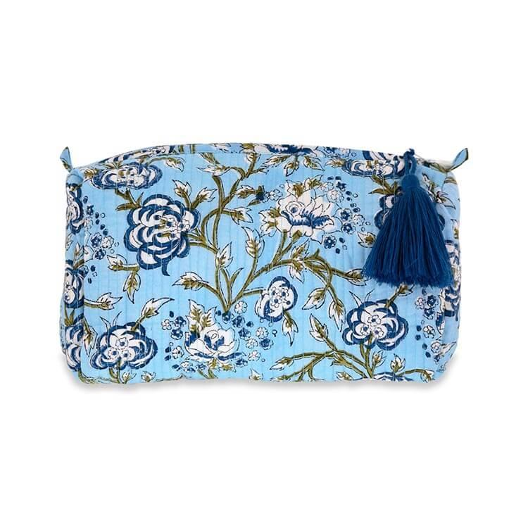 Neceser indio de flores azul