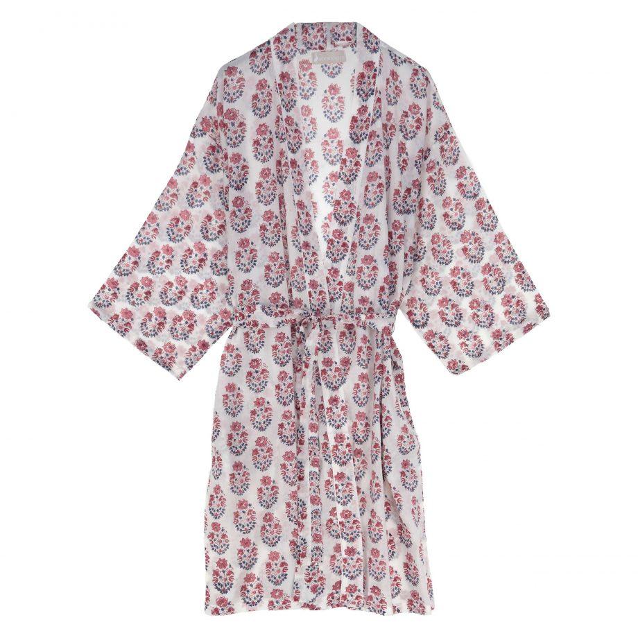 Bata kimono india paisley rosa