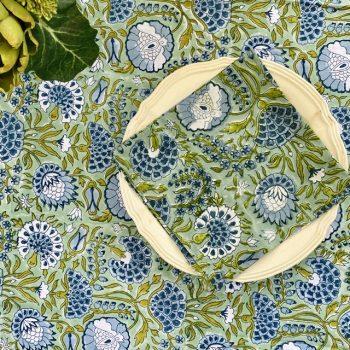 Mantel flores verde