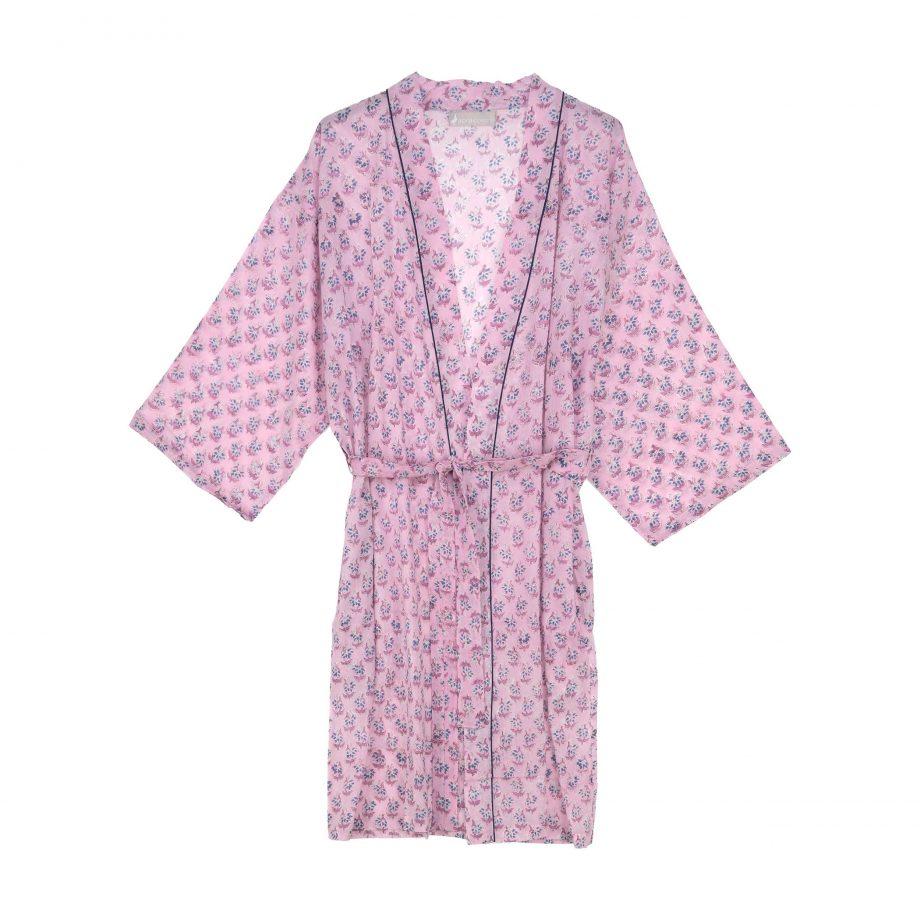 Kimono rosa florecitas
