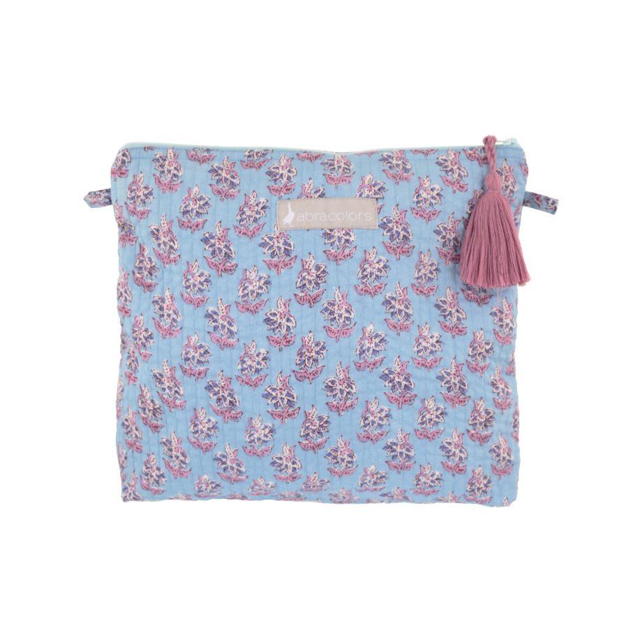 Bolsa acolchada grande azul