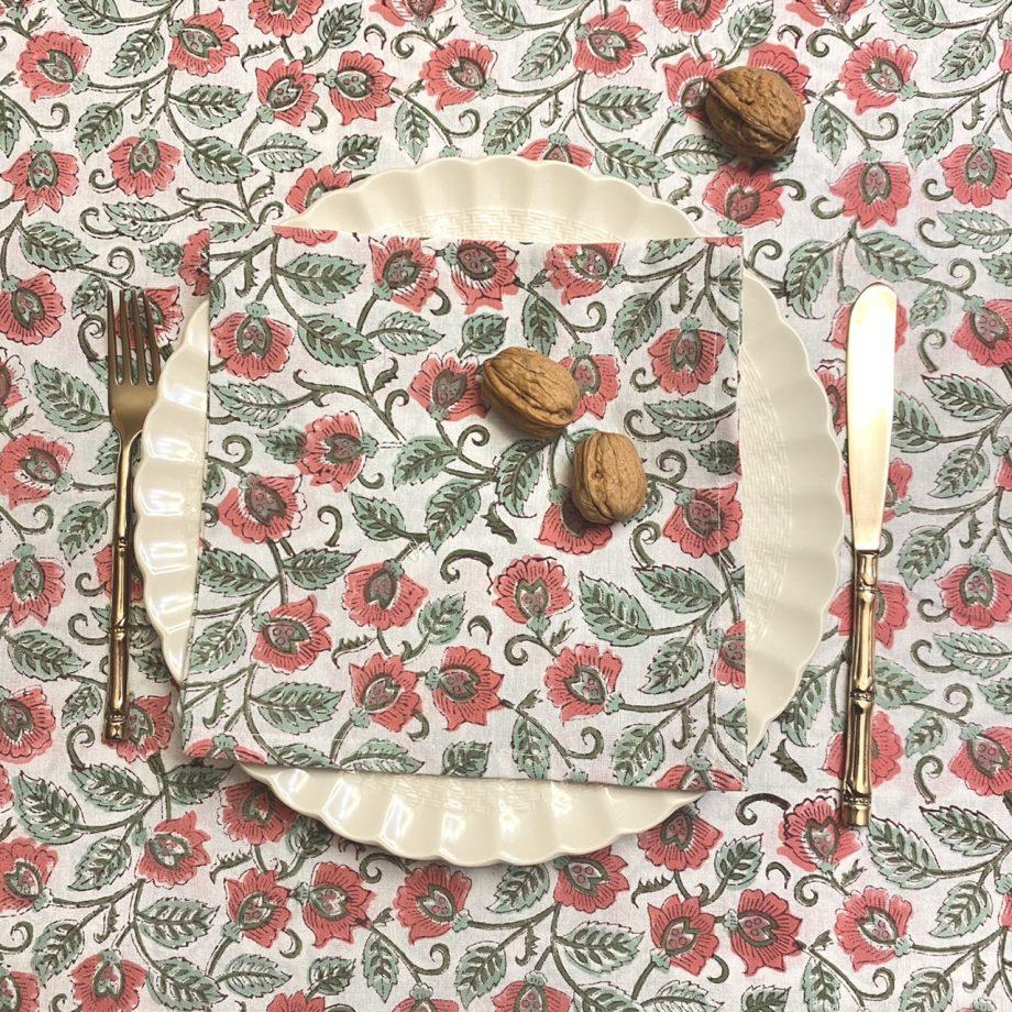 Mantel flor rosa