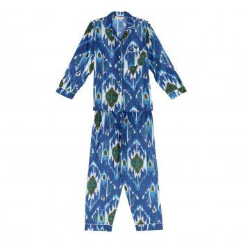 Pijama ikat azul