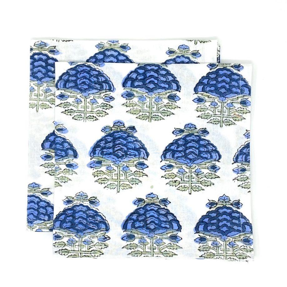 Servilletas flor azul