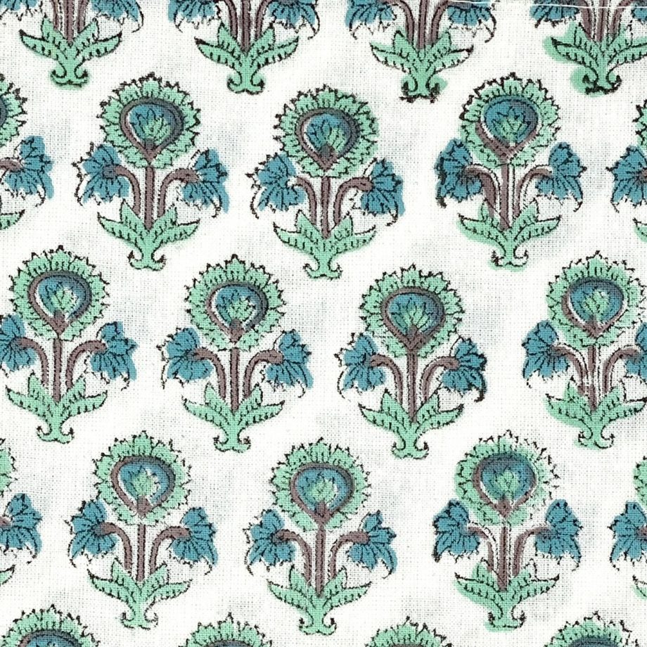 Servilletas flor verde azul