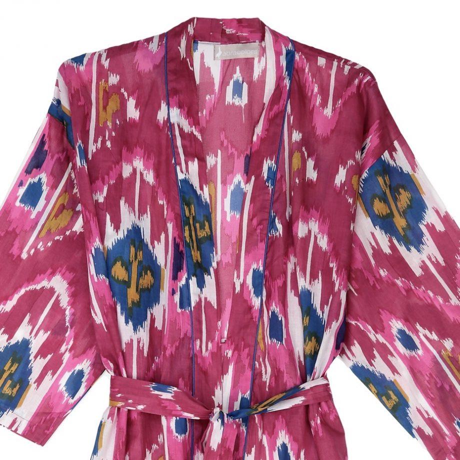 Kimono ikat fucsia