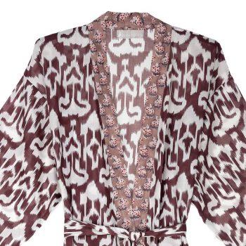 Kimono ikat berenjena