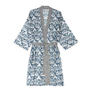 Kimono ikat gris