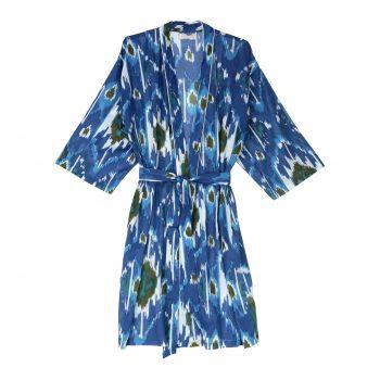 Kimono ikat azul