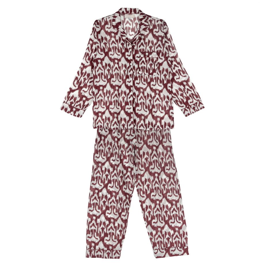 Pijama ikat berenjena