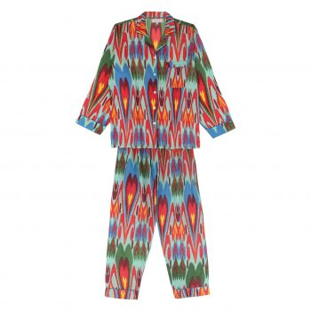 Pijama ikat turquesa