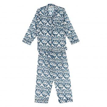 Pijama ikat gris