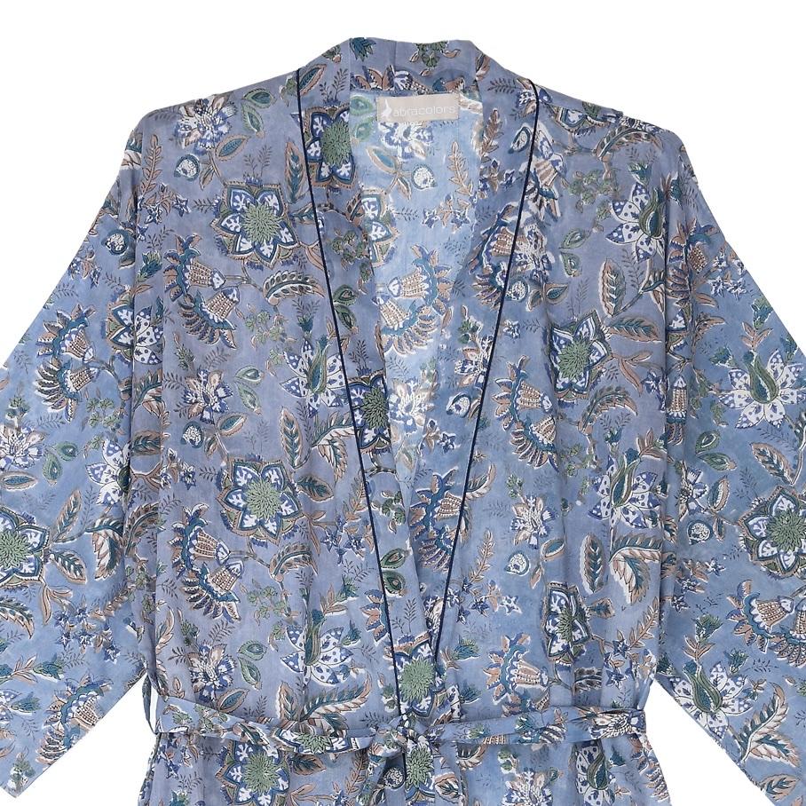 Kimono añil