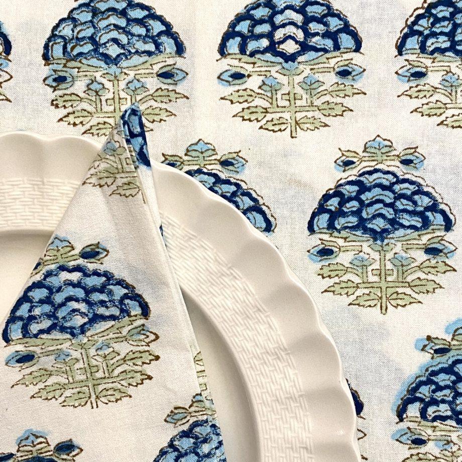 Mantel flor azul