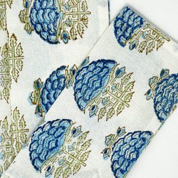 Set 4 servilletas aperitivo flor azul